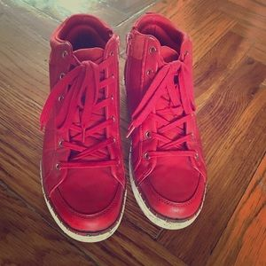 Aldo red high top sneakers